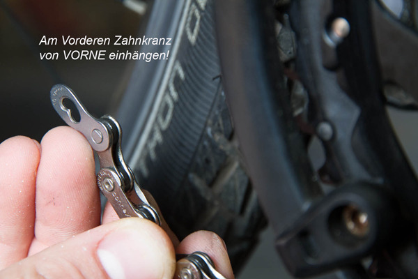 Verbauen und Schließen des Wippermann Connex-Kettenschlosses