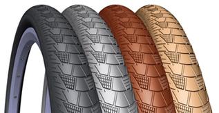 Farbige und bunte Trekking / City / Cross Reifen Fahrradreifen zu günstigen Preisen in unserem Online Versand Shop kaufen