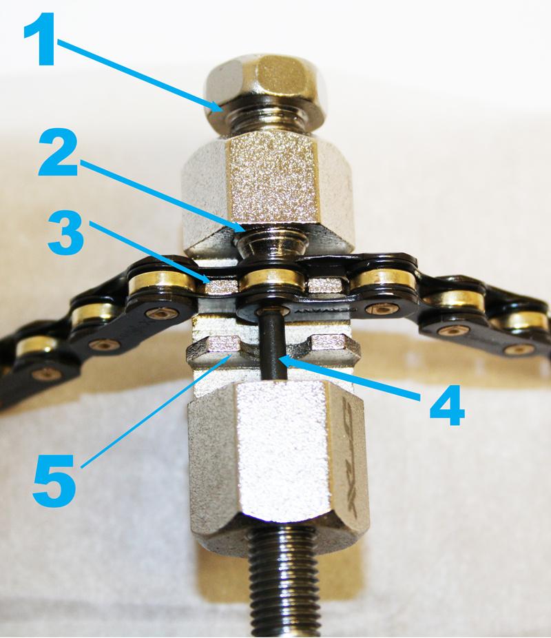 Richtige Verwendung eines Kettennieters / Kettennietwerkzeugs